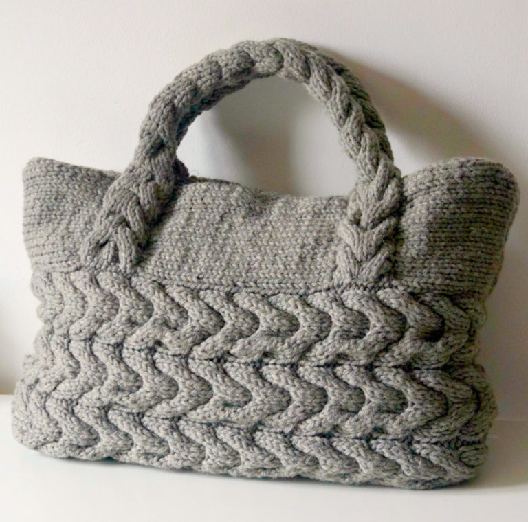 Knitting Pattern for Cable Bag