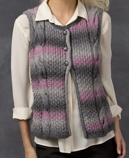 Free Knitting Pattern for Cable Best Vest