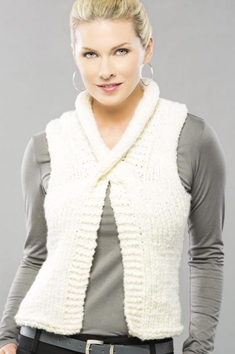 Free Knitting Pattern for Cable Cross Vest