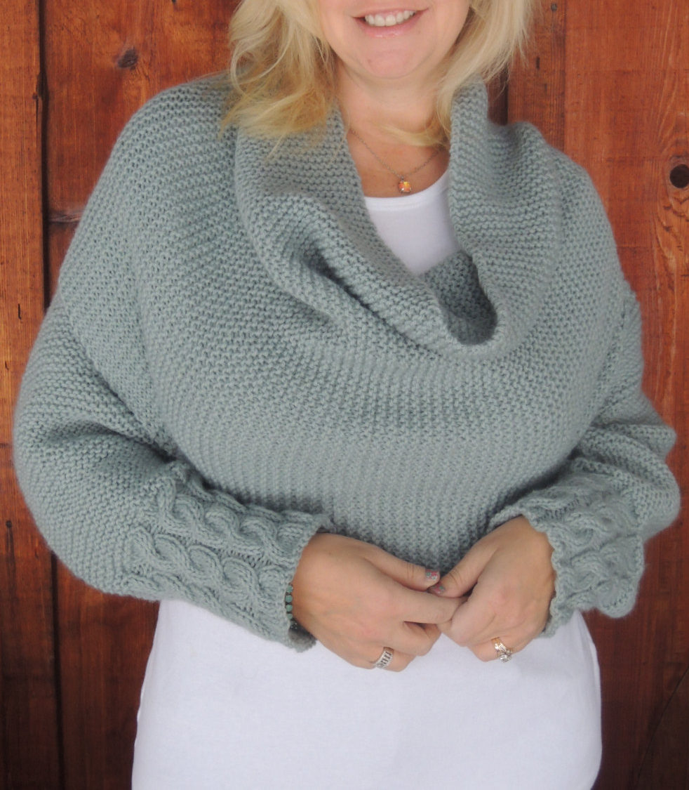 Knitting Pattern for Cable Cuff Sleeve Wrap