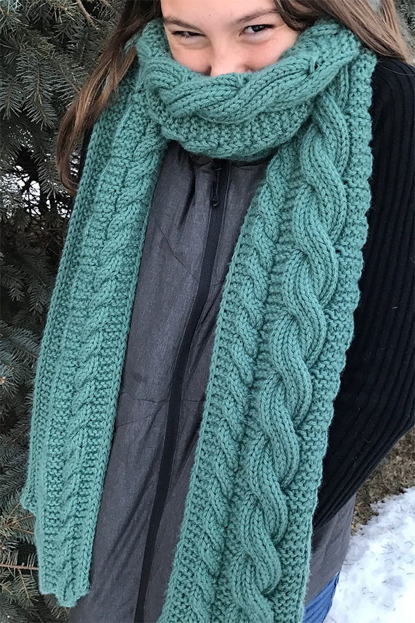 Knitting Pattern for Reversible Cable It Up Scarf