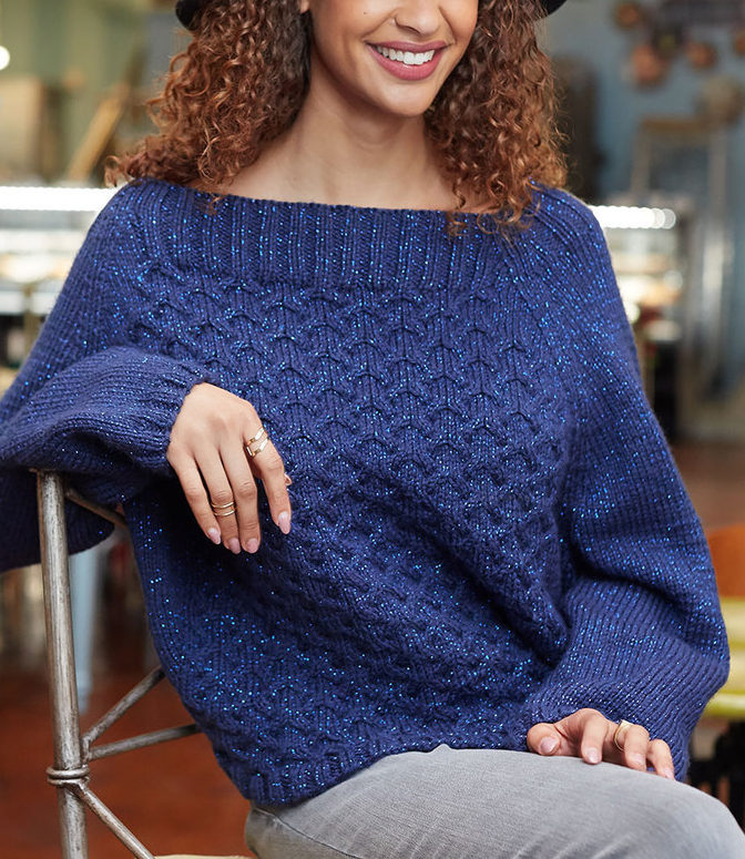 Free Knitting Pattern for 8 Row Repeat Cable Sweater