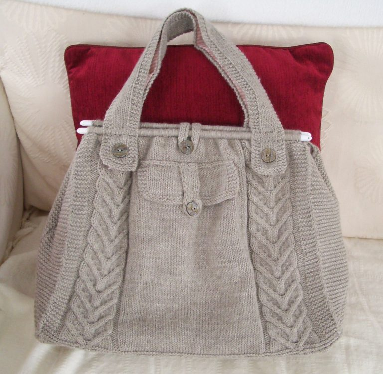 Free Knitting Pattern for Cable Tote Pruse