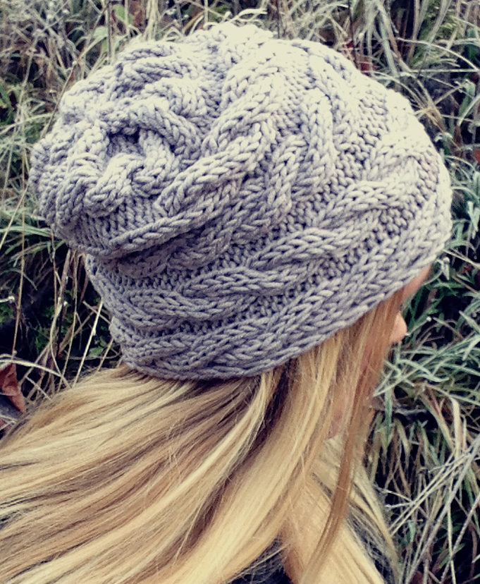 Knitting Pattern for Cable Wrap Beanie
