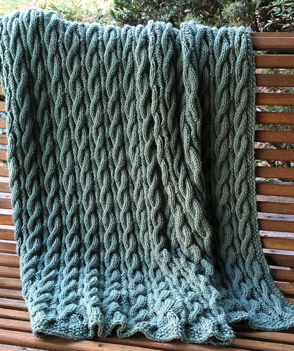 Reversible Blanket Knitting Patterns In The Loop Knitting