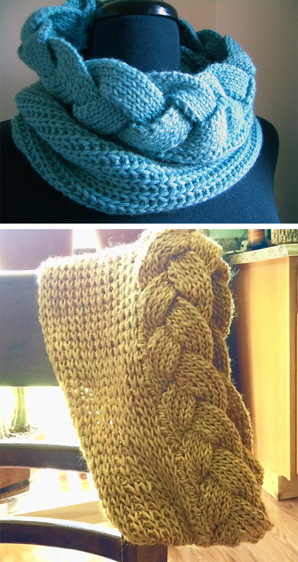 af48aacaa2d72 Braided Scarf and Cowl Knitting Patterns- In the Loop Knitting
