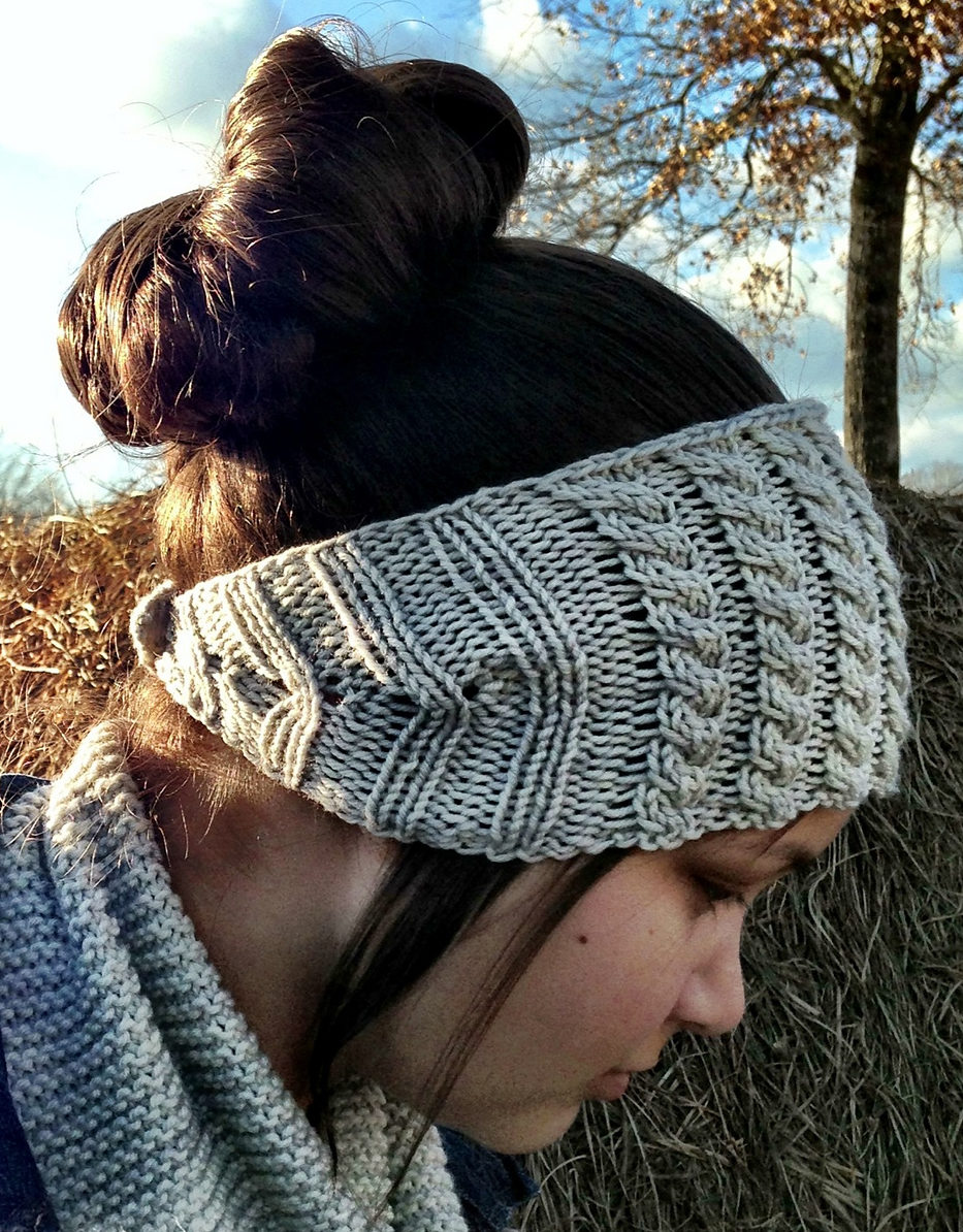 Free Knitting Pattern for Cablerimetry Headband