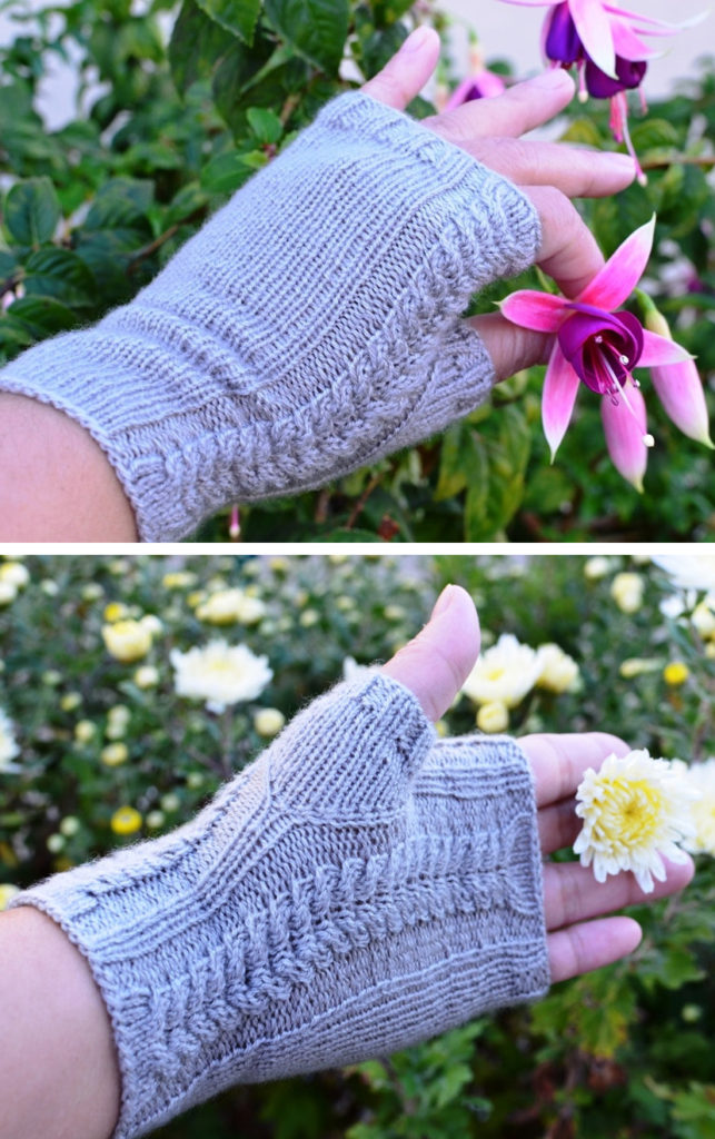 Knitting Pattern for Cables Fingerless Mitts
