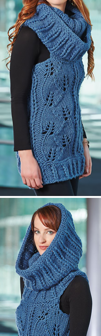 Knitting Pattern for Cables on the Catwalk Vest