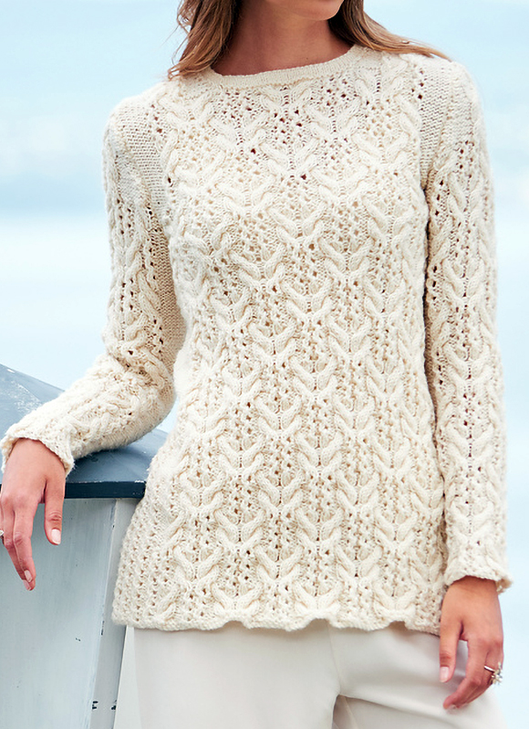 Knitting Pattern for Cablewing Sweater