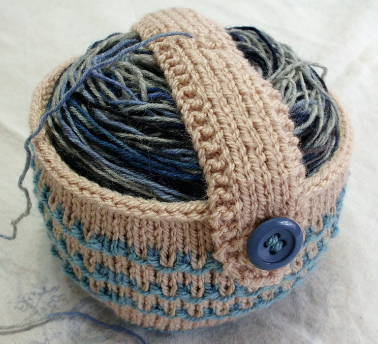 Free Knitting Pattern for Yarn Cake Holder
