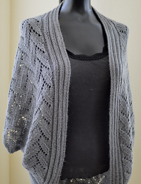 Knitting Pattern for Calida Luxe Coccon Cardigan