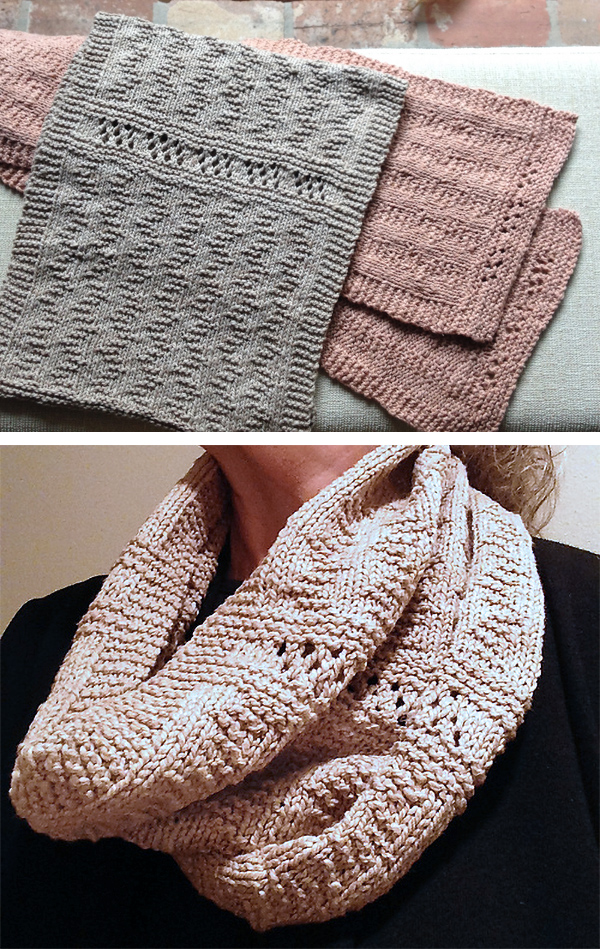Free until September 30, 2019 Knitting Pattern for One Skein Calming Waters Cowl or Scarf