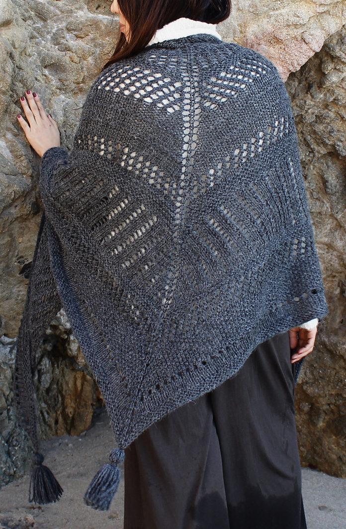 Free Knitting Pattern for Cambria Wrap
