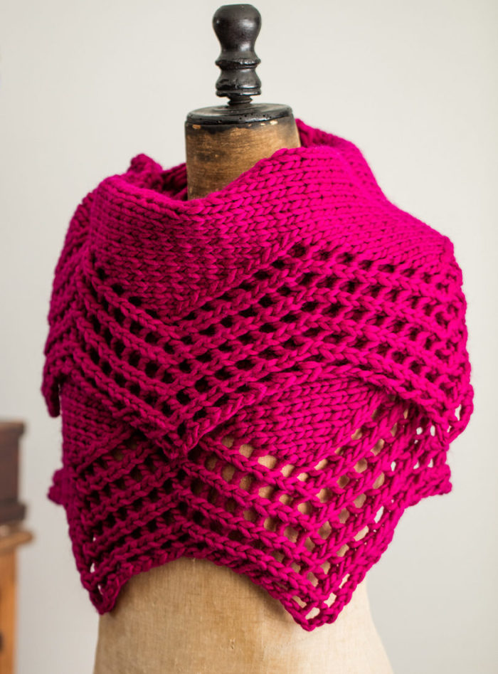 Free Knitting Pattern for Camelia Shawl
