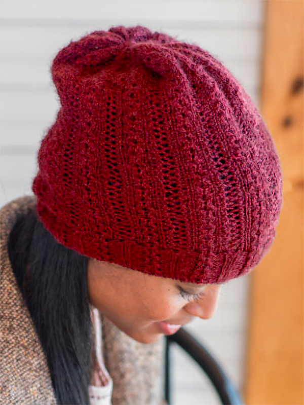 Free Knitting Pattern for One Skein Camille Beanie