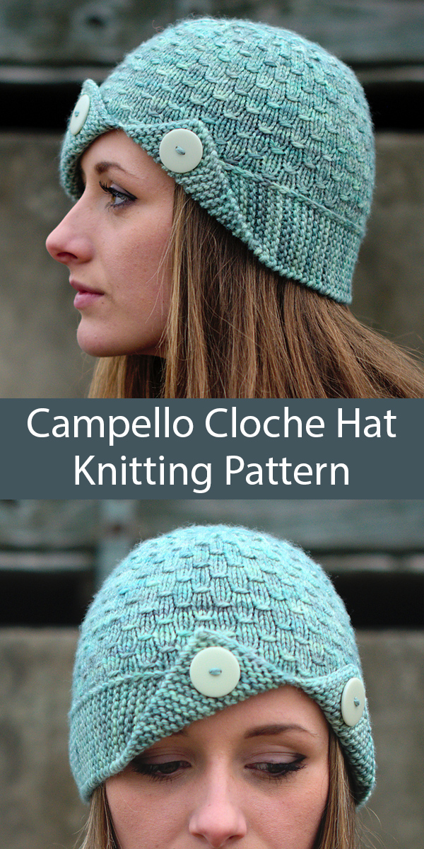 Knitting Pattern for Campello Cloche Hat