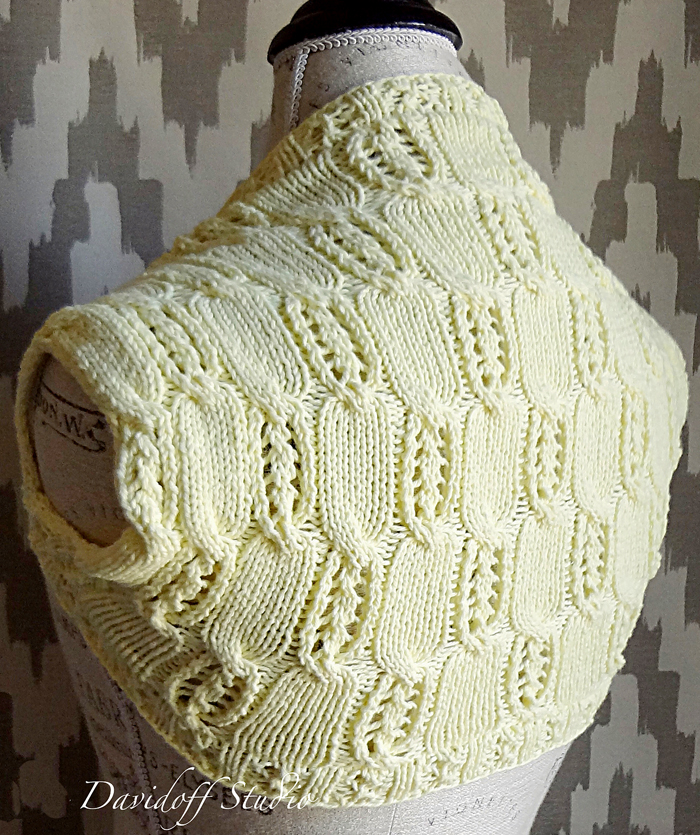 Free Knitting Pattern for Canary Shrug