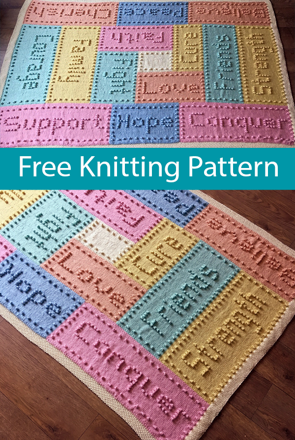 Free Knitting Pattern for Support Blanket
