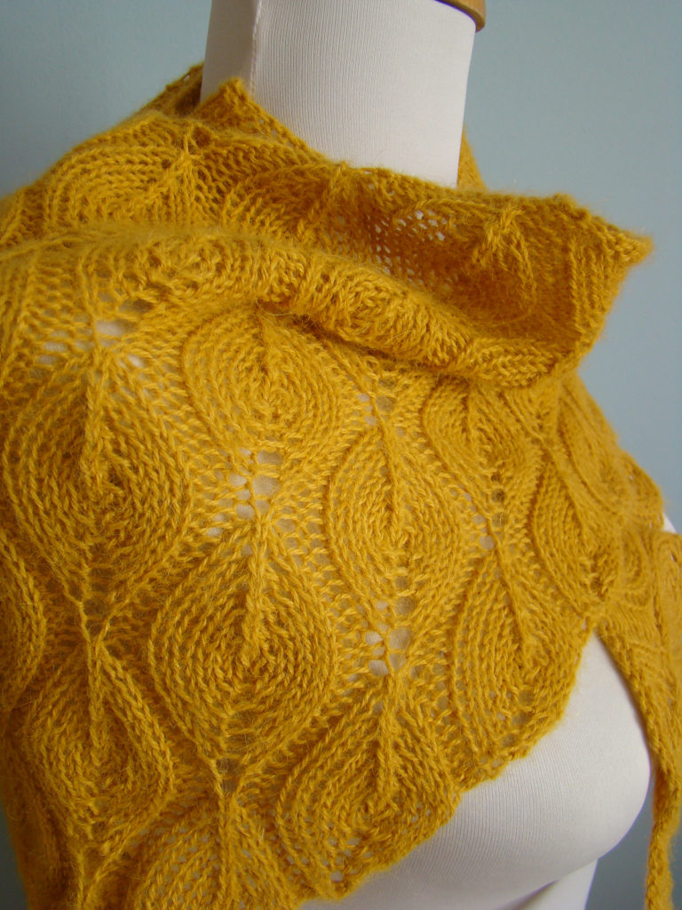 Free Knitting Pattern for Candle Flame Shawl