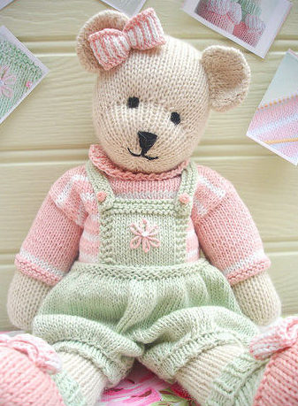 Knitting Pattern for Candy Bear