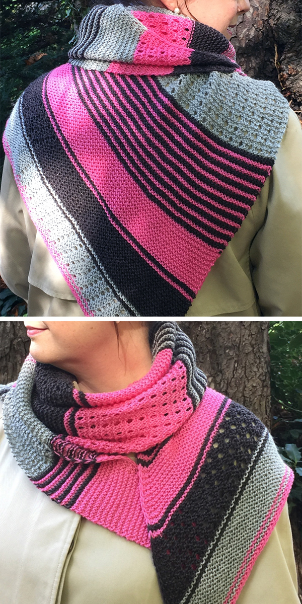 Free Knitting Pattern for Easy Capriccio Shawl