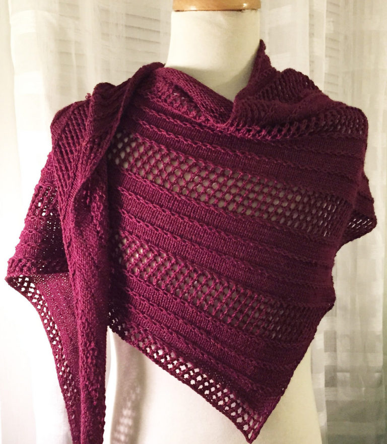 Knitting Pattern for Caprius Shawl