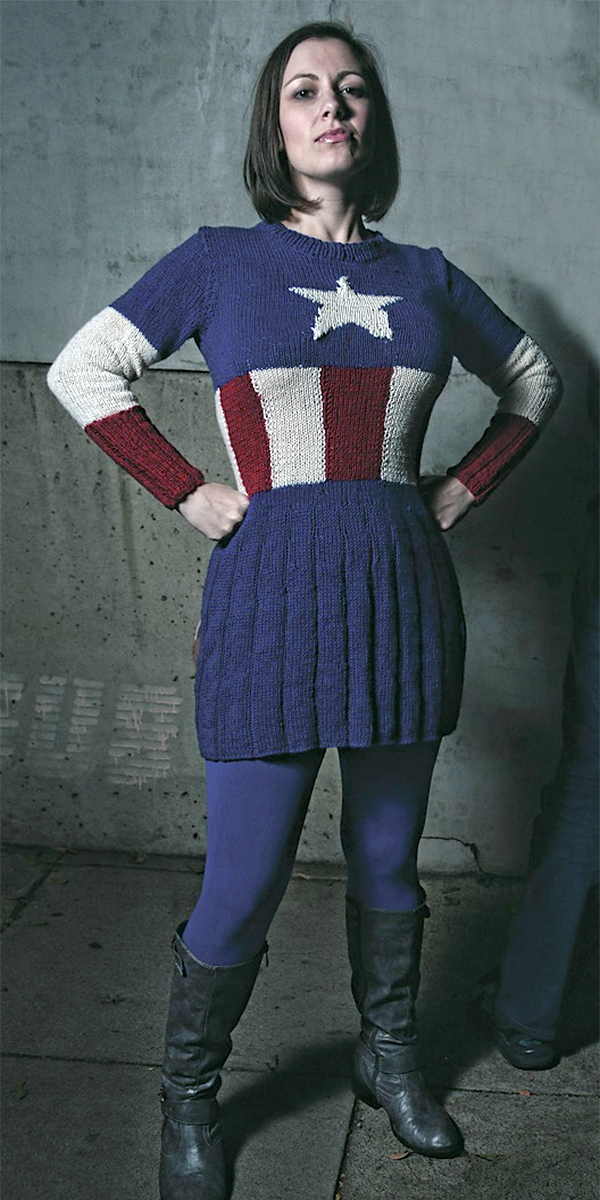 Knitting Patterns for Captain America Dress
