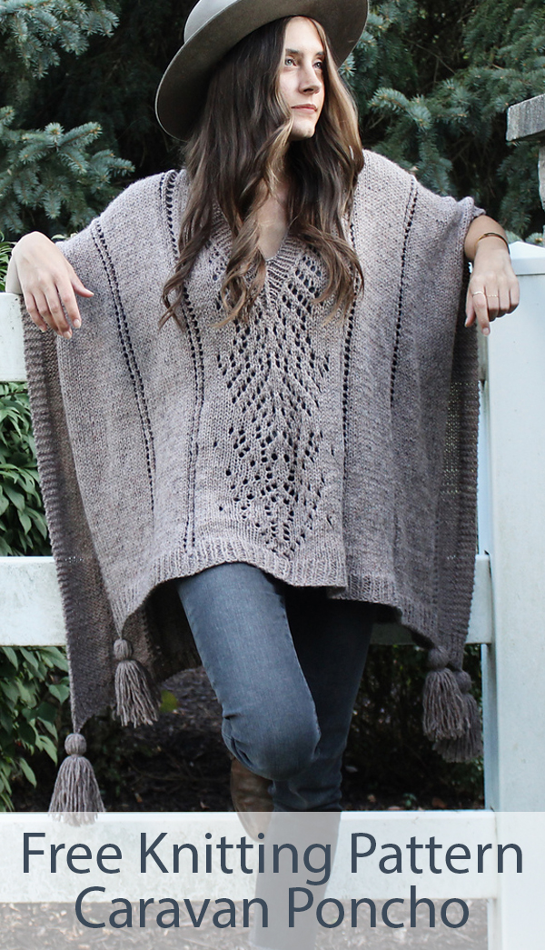 Free Knitting Pattern for Caravan Poncho