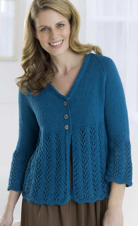 Free Knitting Pattern for Cardie to love