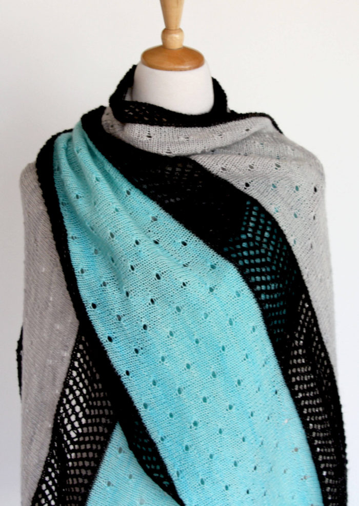Knitting Pattern for Cardinia Wrap
