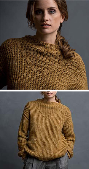 Knitting Pattern for 2 Row Repeat Carmel By the Sea Pullover