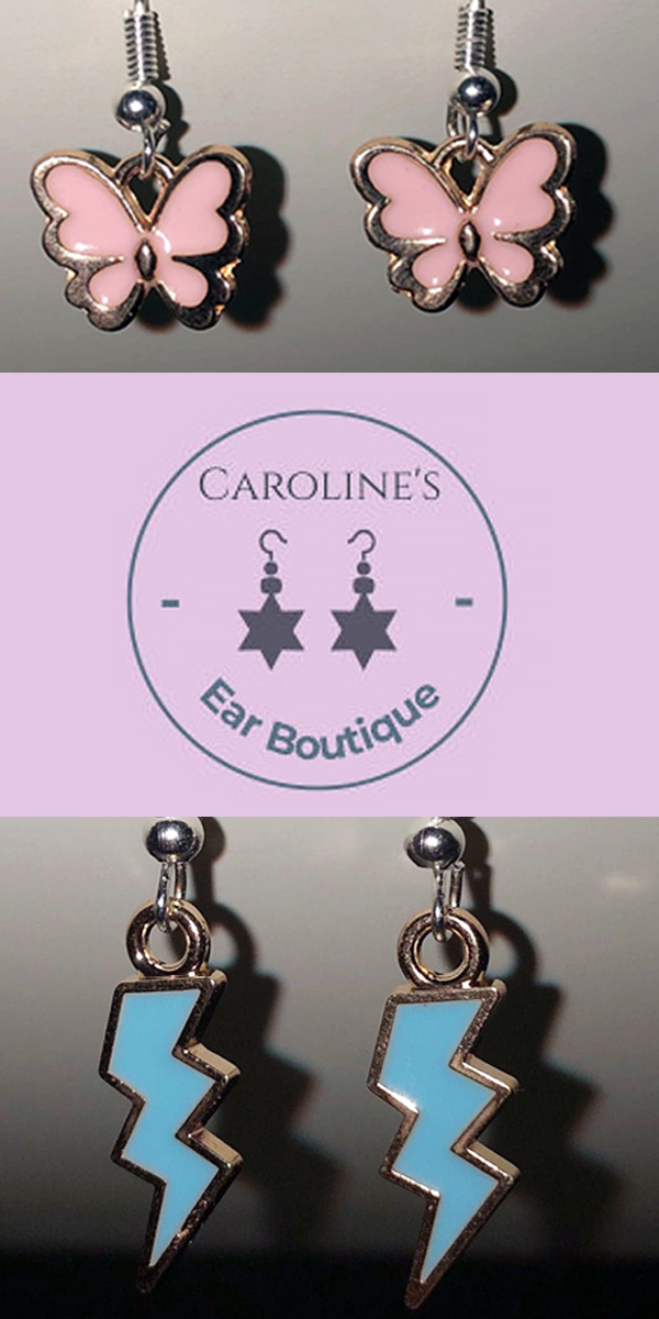 Carolines Ear Boutique Earrings Butterfly Lightning Star Earrings