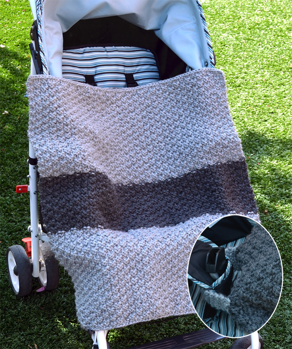 Free Knitting Pattern for Carseat Cover-up