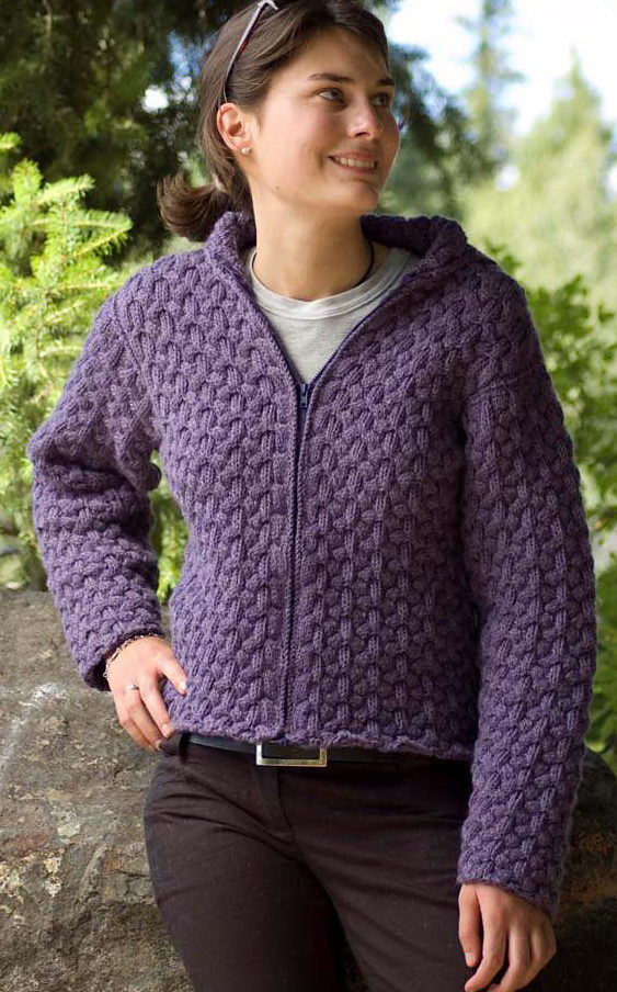 Free Knitting Pattern for Cascade Cabled Hoodie