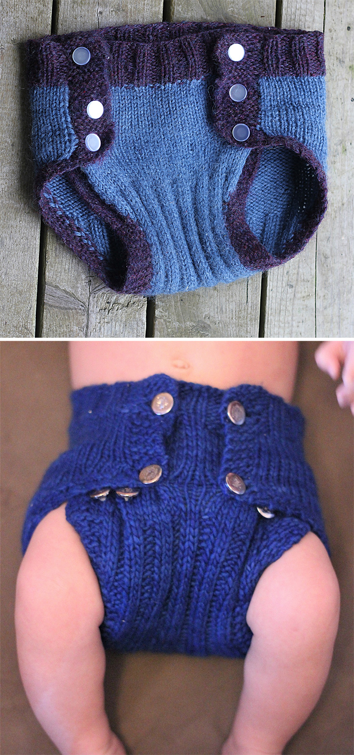 Free Knitting Pattern for Cascia Diaper Cover