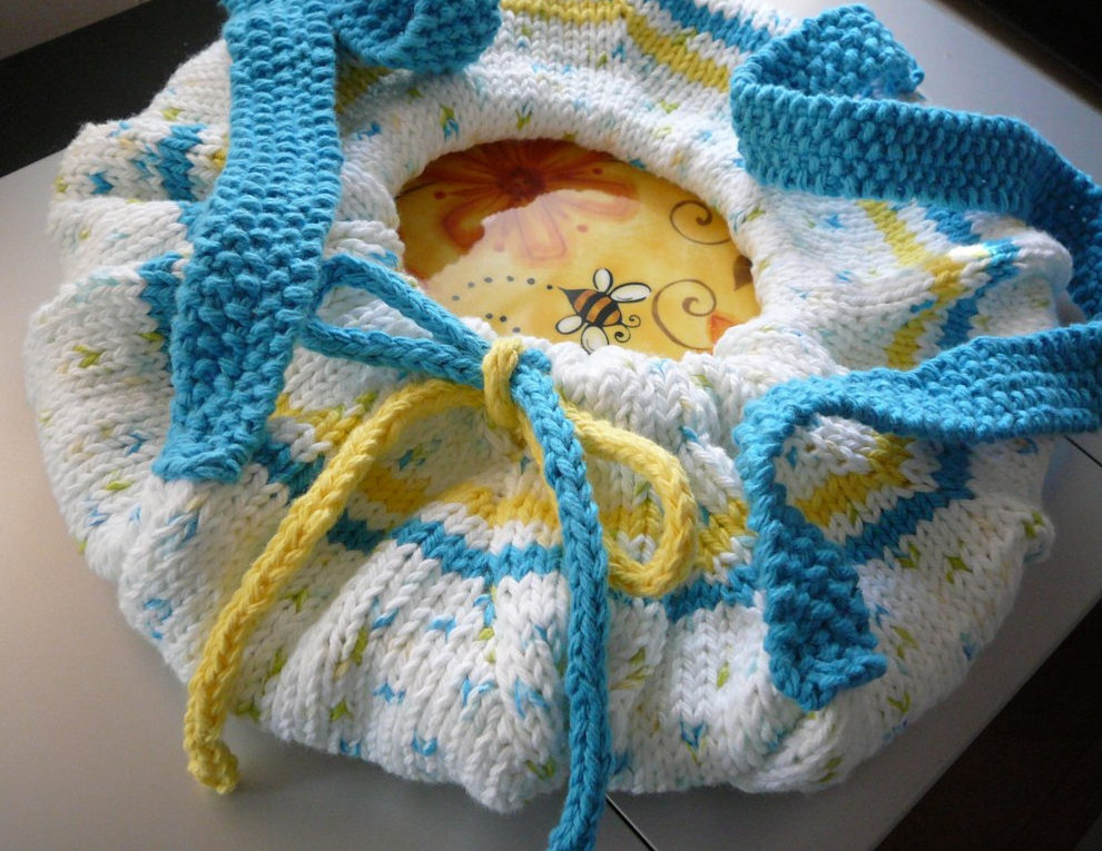 Free Knitting Pattern for Pie or Casserole Carrier