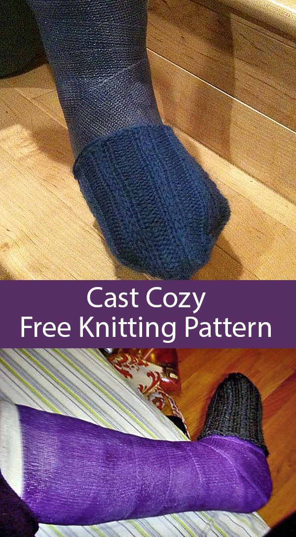 Free Knitting Pattern for Cast Cozy