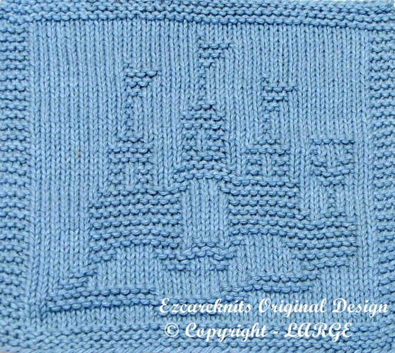 Knitting pattern for Castle Wash Cloth