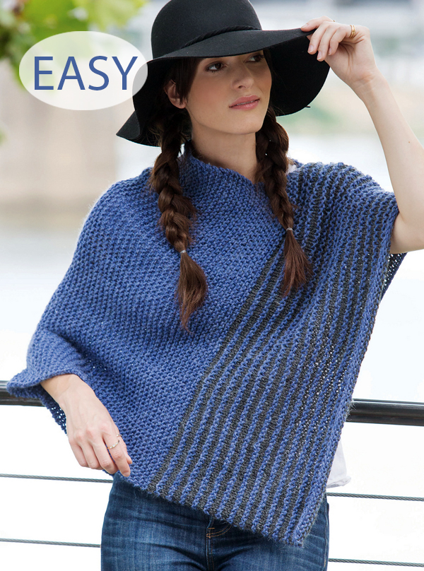 Knitting Pattern for Easy Poncho