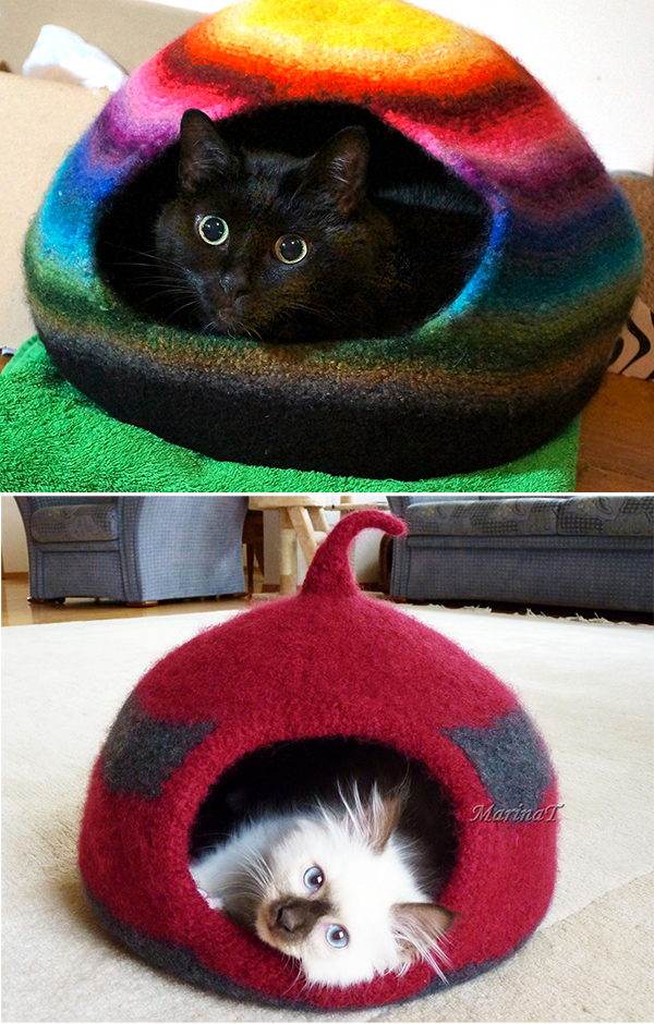 Free Knitting Pattern for Cat Cocoon