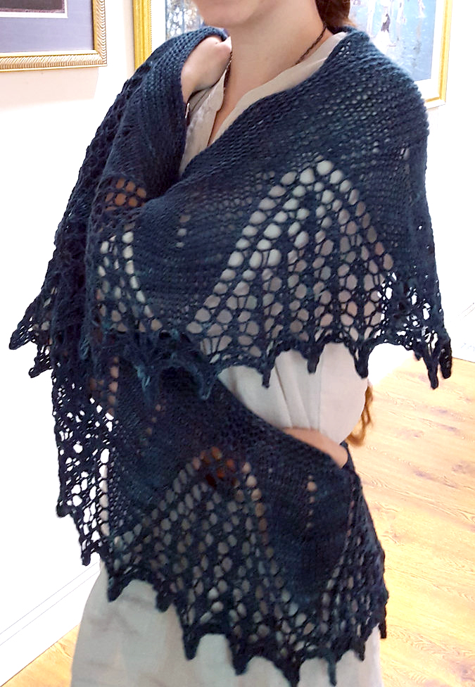 Knitting Pattern for Catlett Shawl