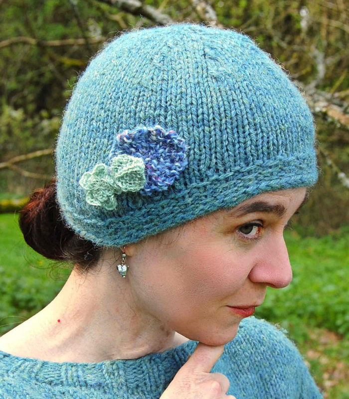 Free Knitting Pattern for The Cat's Pajamas Cloche