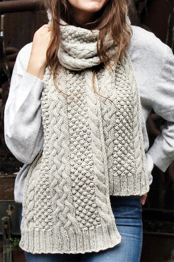 Free Knitting Pattern for Cedar Hill Scarf