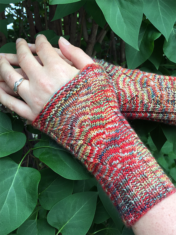 Free Knitting Pattern for Celebration Wristlets