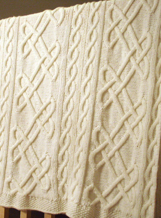 Free Knitting Pattern for Celtic Knot Afghan