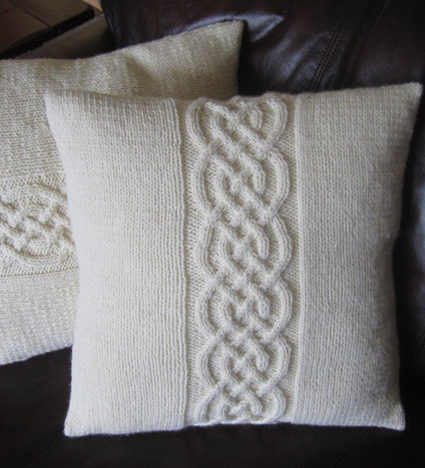 Knitting Pattern for Celtic Knot Pillow