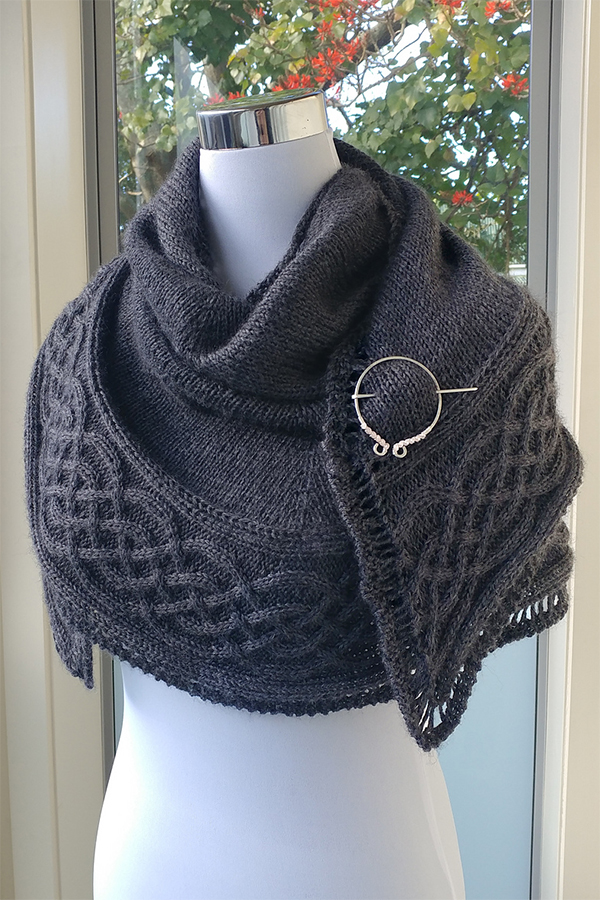 Free Knitting Pattern for Celtic Myths Shawl