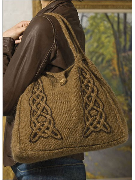Knitting Pattern for Celtic Tote