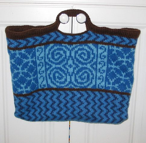 Free knitting pattern for Celtic Wanna Be Tote